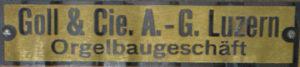 Tafel in Oberdorf, St. Peter
